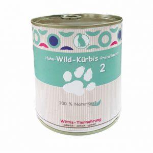fertiggericht für Hunde Huhn-Wild-Kürbis-Preiselbeeren